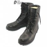 Russian Military winter warm genuine black Leather airsoft BOOTS with Natural sheep Fur