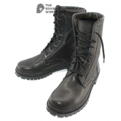 Russian Military summer black Leather airsoft BOOTS