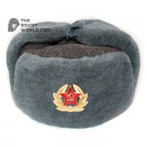 Russian Army Soviet military original vintage fur winter Sergeant's trapper hat Ushanka earflaps