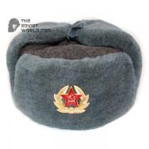 Russian Army Soviet military original vintage fur winter Sergeant's trapper hat Ushanka earflaps
