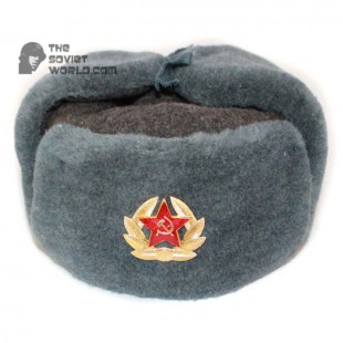 a912cded Russian Army Soviet military original vintage fur winter Sergeant's trapper hat  Ushanka earflaps