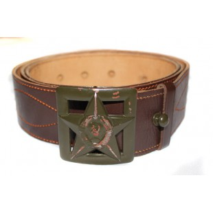 RARE USSR Army WW2 GENUINE leather RKKA General's military M43 original brown Portupeya Belt