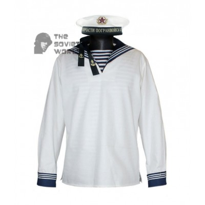Soviet army Sailor Parade jumper uniform Red Army white USSR Marines shirt Flanka