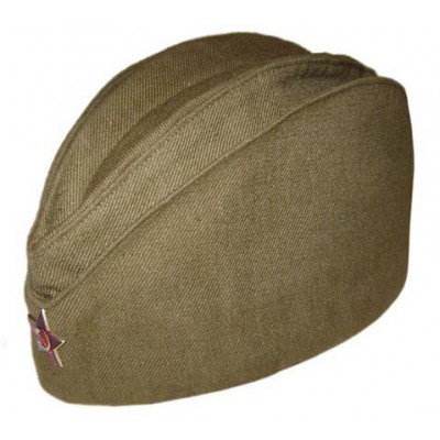 Soviet Red USSR army Russian soldier's military green WWll summer hat Pilotka