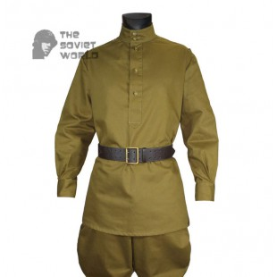 db6ee2c1689 Soviet Red Army WW2 Russian military Infantry Soldier cotton khaki uniform  M43 Gimnasterka shirt & Galife