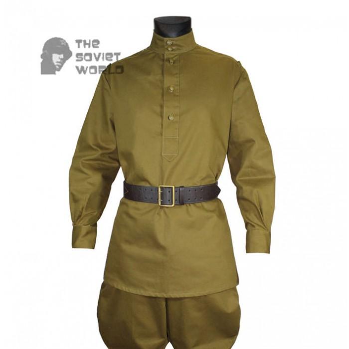 Soviet Red Army WW2 Russian military Infantry Soldier cotton khaki uniform M43 Gimnasterka shirt & Galife Pants