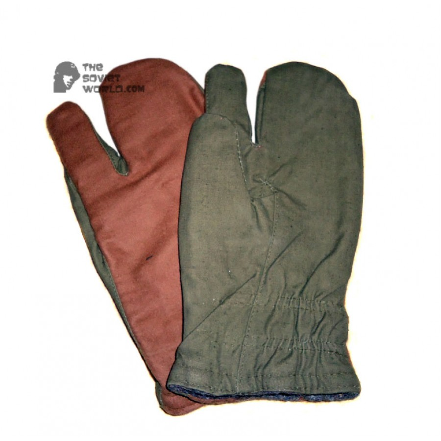 Russian military Soviet Army soldiers winter USSR Gloves, Afghanistan war gloves